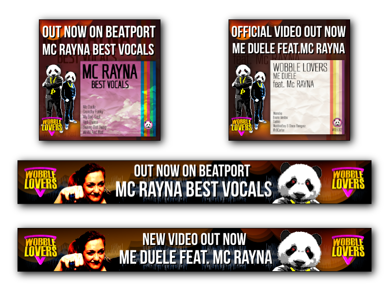 Wobble Lovers & Mc Rayna web campaign ads