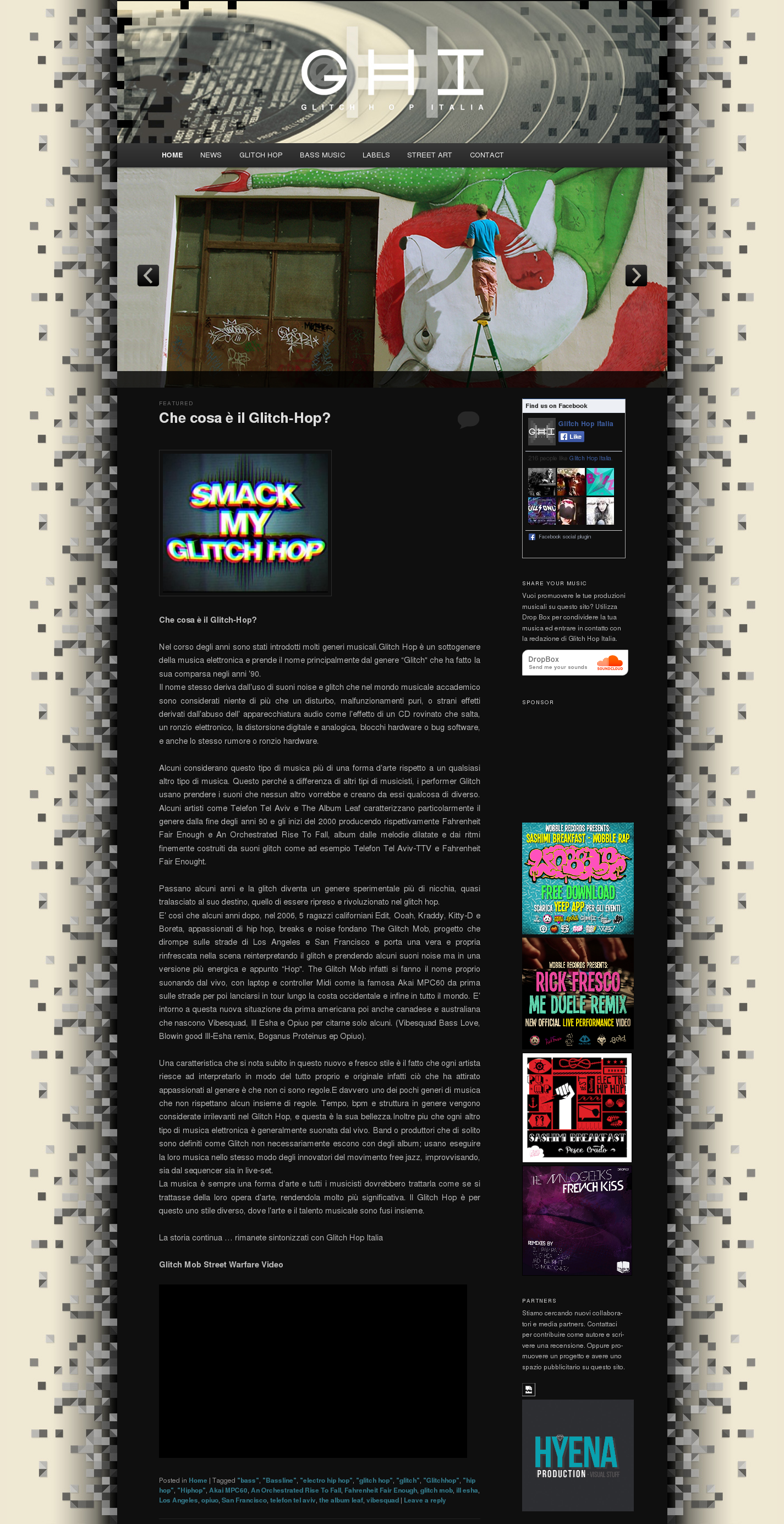 Glitchhop.it WordPress Template