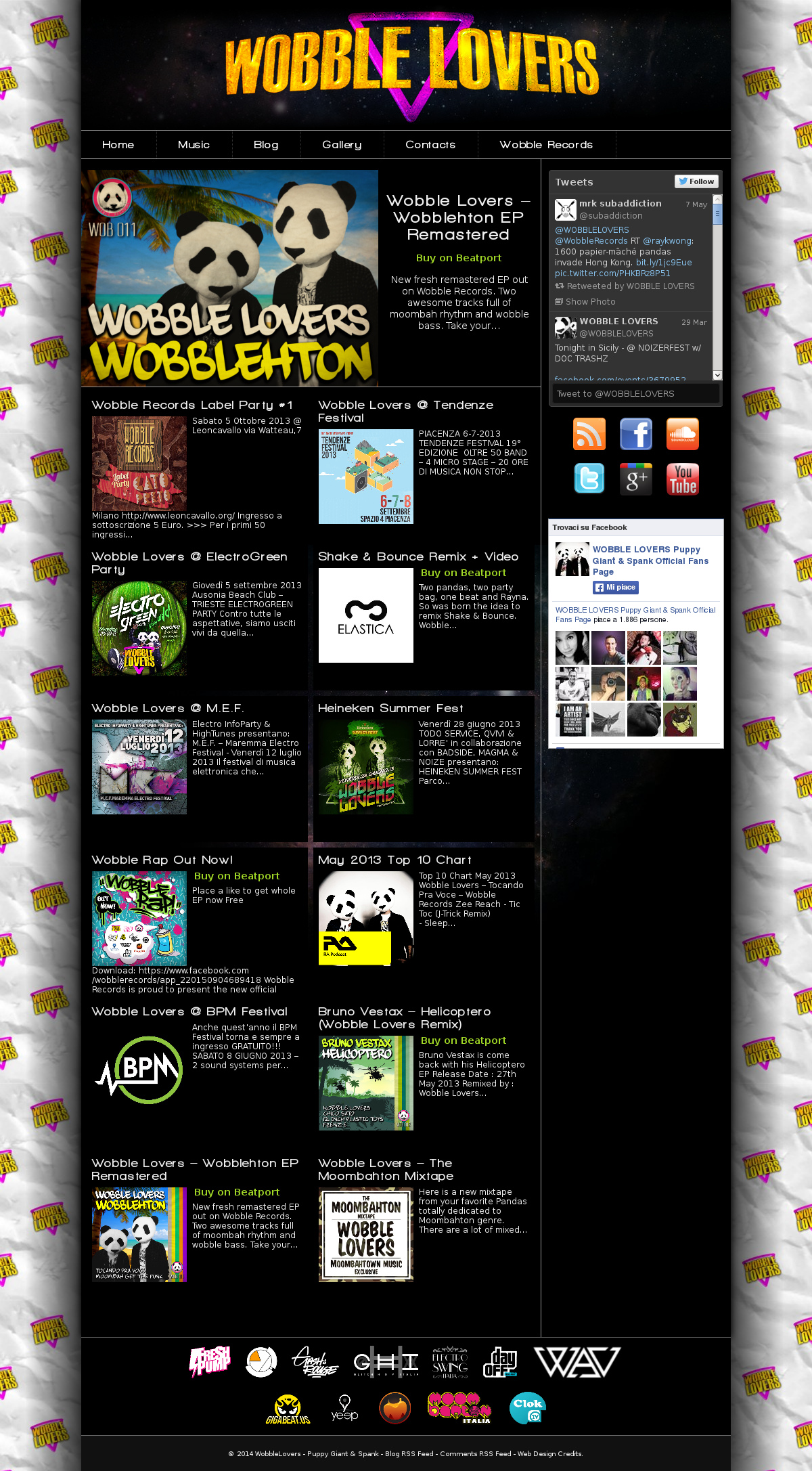 "Sito web ""Wobble Lovers"" [WordPress Template]"